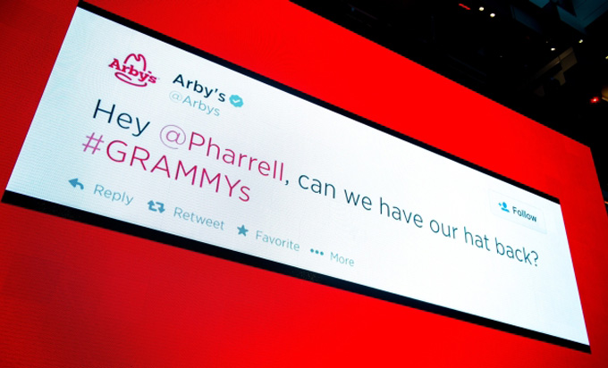 Arby's Pharrell Tweet