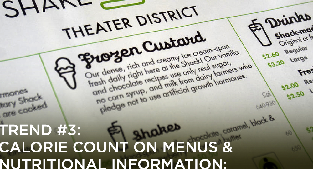Calorie Count on Menus and nutritional information
