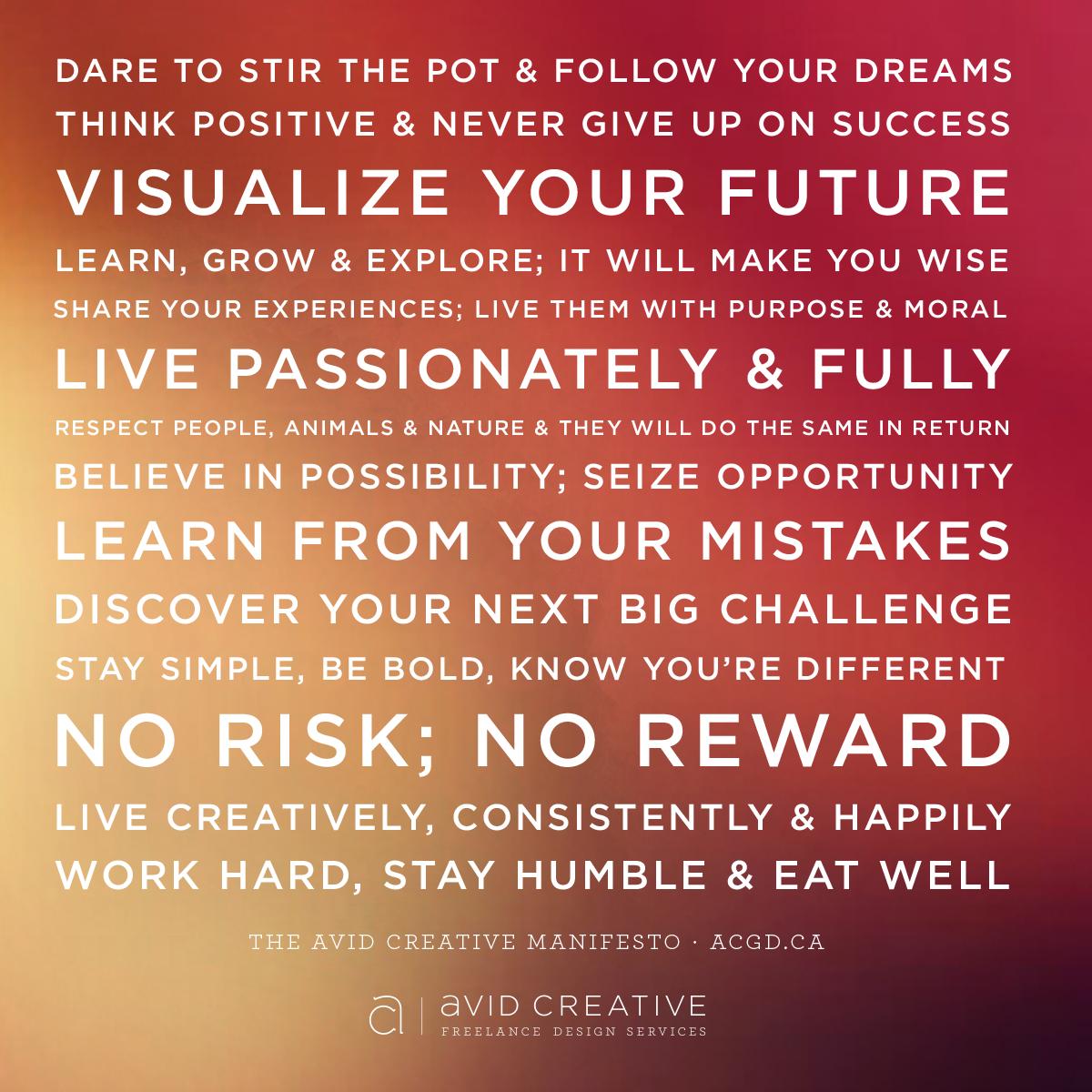 The Avid Creative Manifesto
