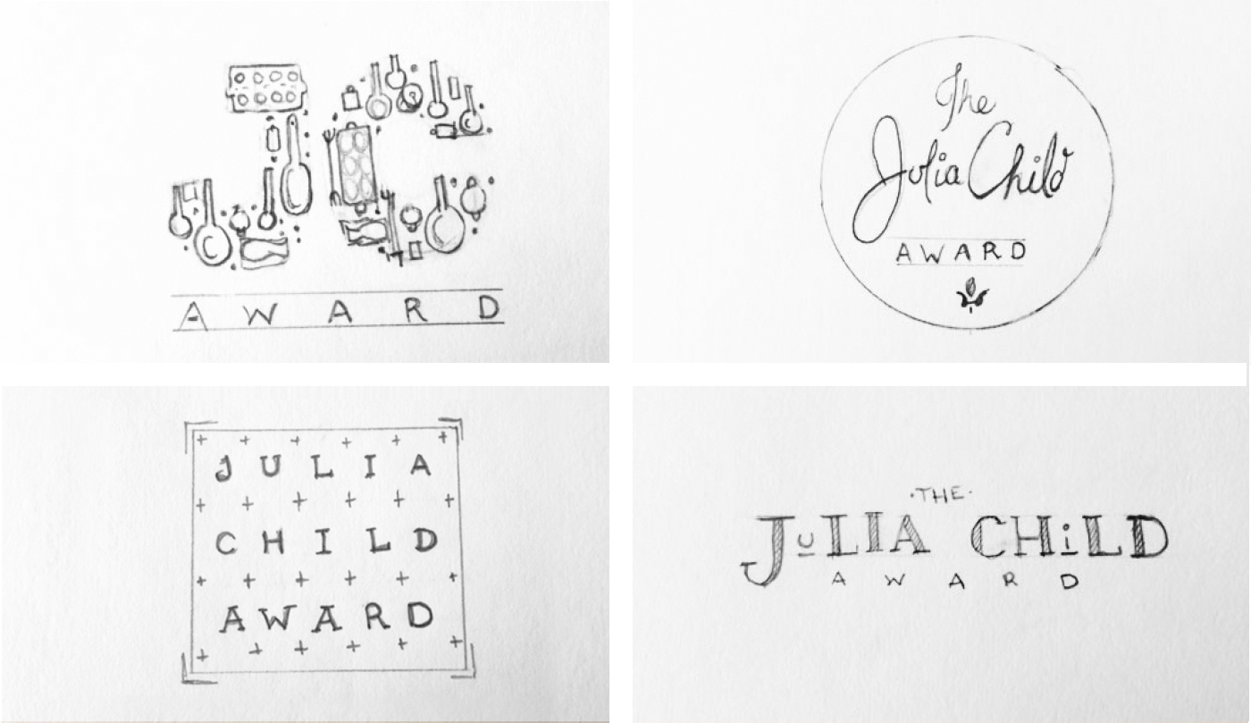 Julia Child Award Logo Sketches