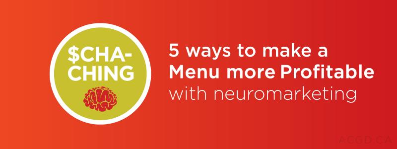 5 ways to make your menu profitable
