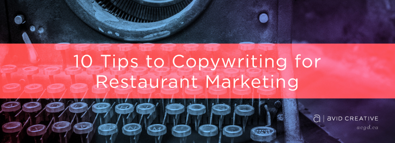 Tips on Copywriting for Restaurant Marketing
