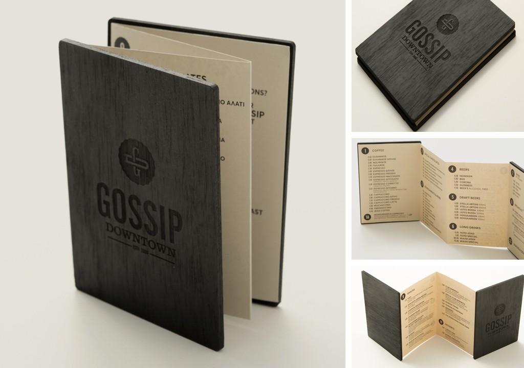 Gossip Design Menu