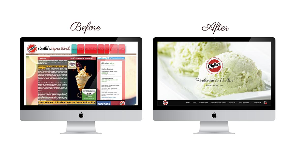 Crollas Website Design