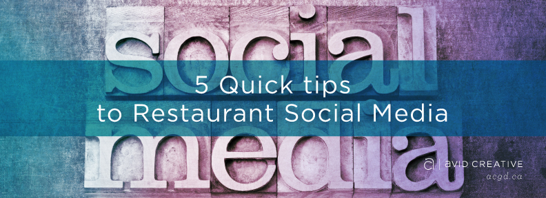 5 quick tips to social media for restaurants