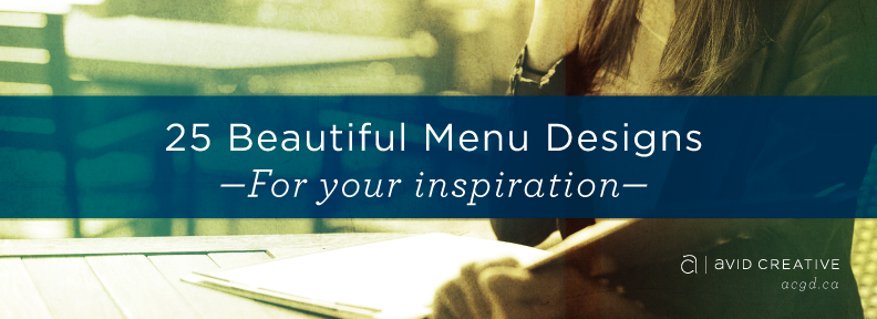 Beautiful Menu Designs